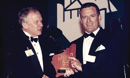 Receiving Plaque Award